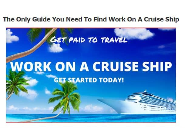 Work On A Cruise Ship Banner